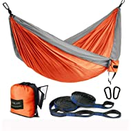 78358cb4d3ef FARLAND Outdoor Camping Hammock - Portable Anti-Fade Nylon Single   Double  Hammock with 2