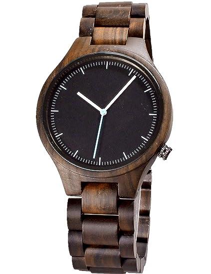 Reloj de madera para hombres y mujeres-Artesanía hecha a mano relojes de madera-