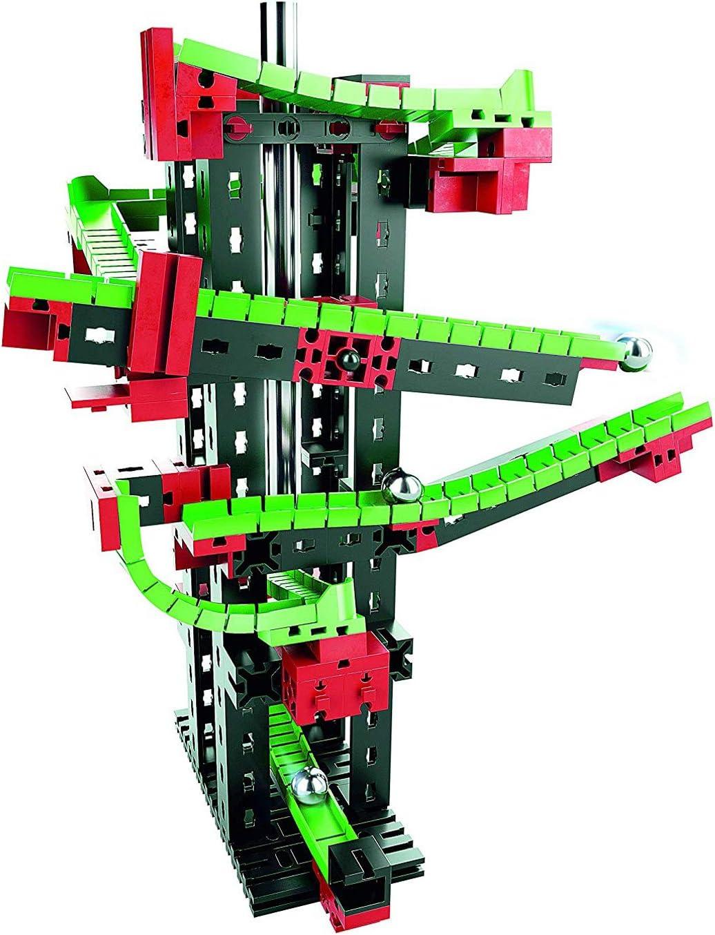 Fischertechnik Dynamic S – Juego Educativo y Divertido de Construcción de Circuitos de Canicas, 140 Piezas