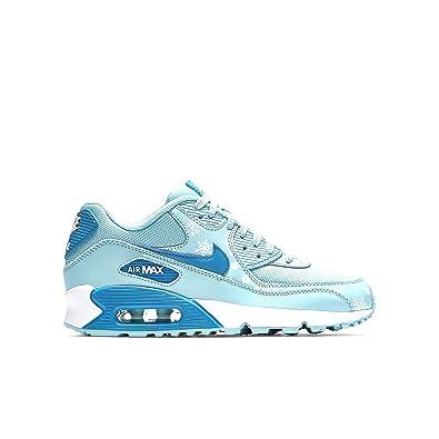 newest 9878c a7195 Nike Kids Air Max 90 PREM MESH GS, COPA BLUE LAGOON-WHITE (