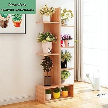 Mehrstufige Hölzerne Blume Betriebsständer Regal Garten Pflanzen