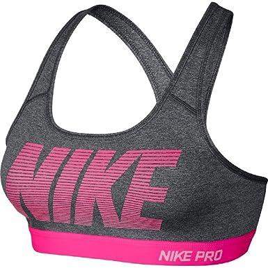 Nike Pro Classic Mid-Impact Padded Dri-FIT Sports Bra (Small, Dark