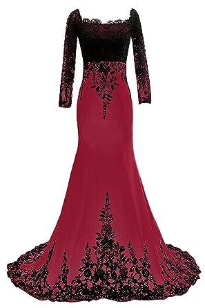 Carnivalprom Damen Abendkleider Mit Ärmeln Lange Elegant Ballkleider ...
