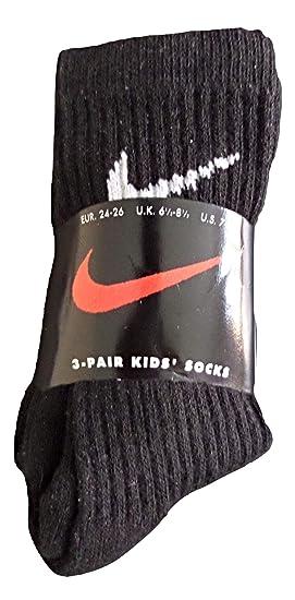Nike Jungen Füßlinge Schwarz Schwarz 23.5-26