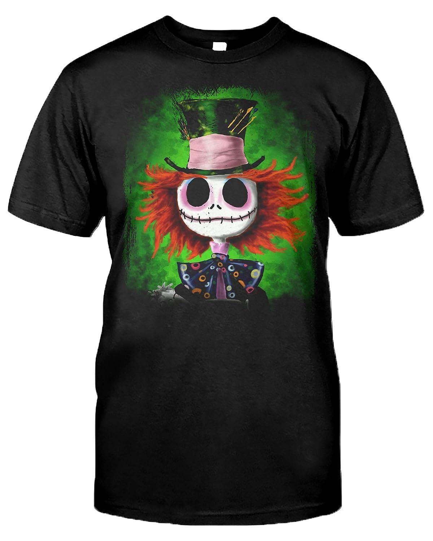 Jack Hatter Inspired Pattern Skelington Mad Shirts