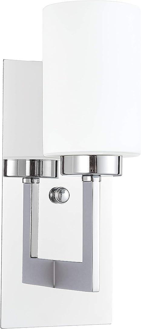Brio Wall Sconce Light Fixture Chrome Bathroom Wall Fixtures Ll Wl151 Pc Amazon Com
