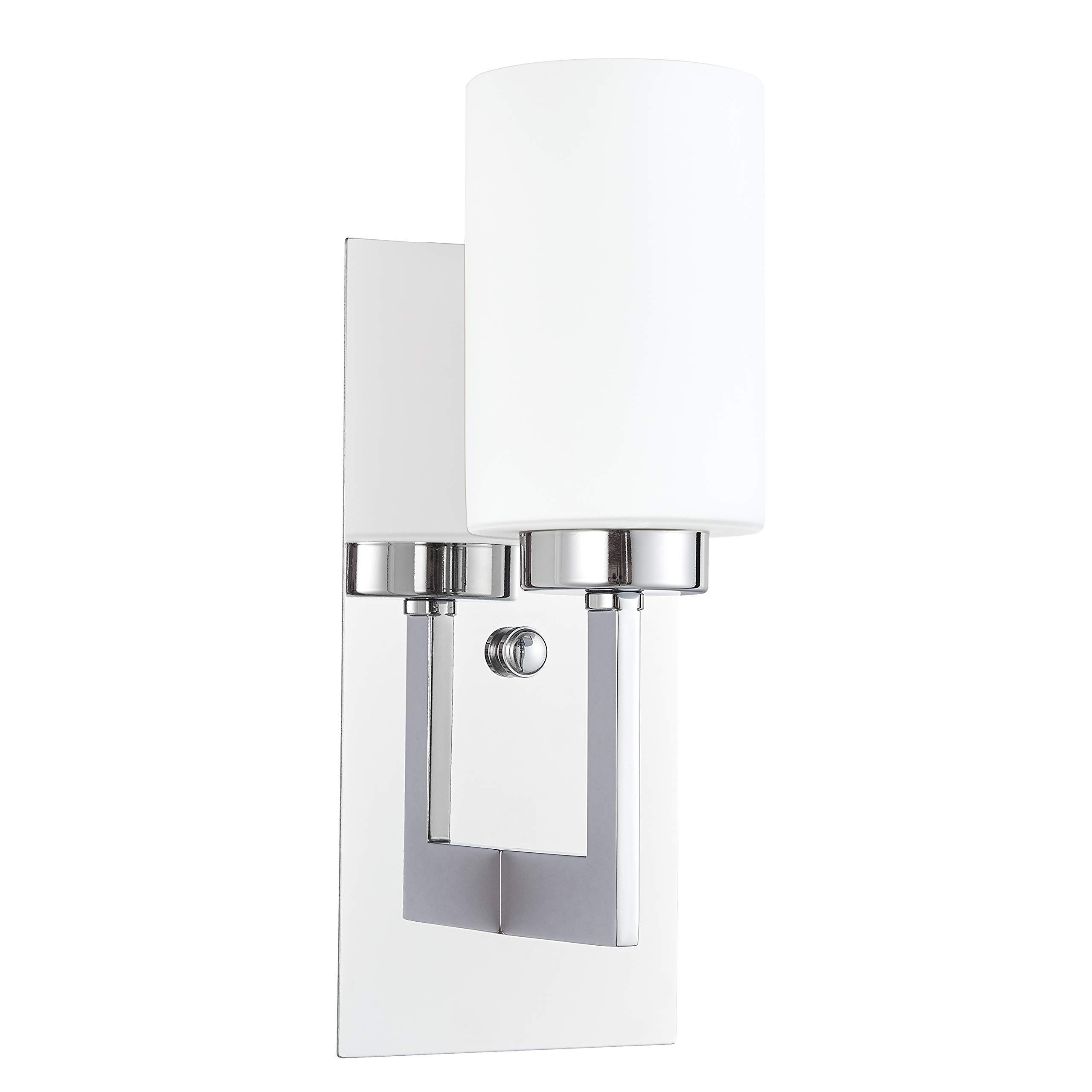 Brio wall sconce light fixture chrome bathroom vanity wall fixtures ll wl151 pc