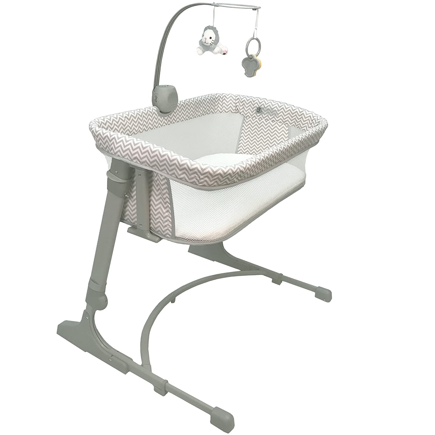 CoSleeper 7100-CV Versatile Bassinet - Chevron Grey One Size Arm's Reach Concepts Inc.
