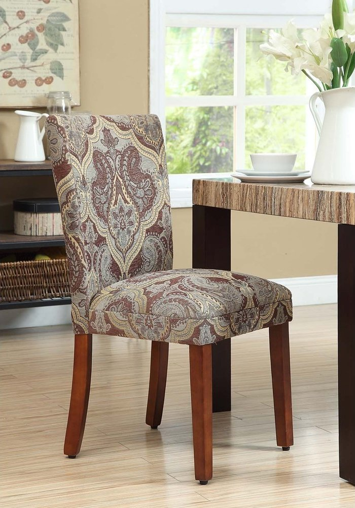 Great Amazon.com   Paisley Fabric Dining Room Chairs Add Style To Your Dining  Room Furniture. A Straight Back Upholstered Chair Turns Kitchen Dining  Chairs Into ...