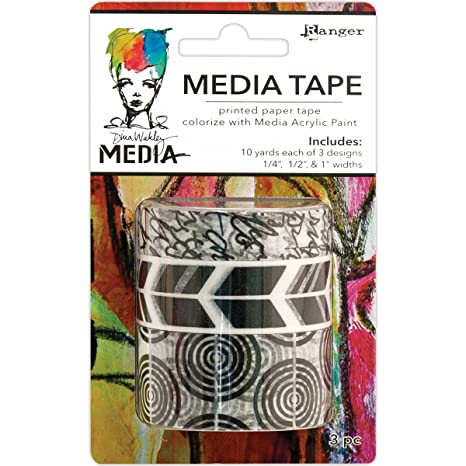 Ranger Dina Wakley Media  Tape Printed