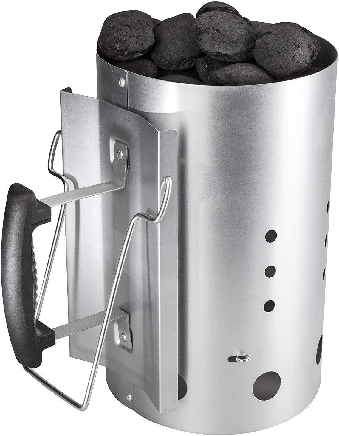 GFTIME Arrancador de Chimenea Carbón briquetas de combustión con Mango...