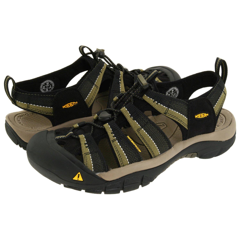 Keen Men's Newport H2 Sandal,Black/Stone Gray,9 M US