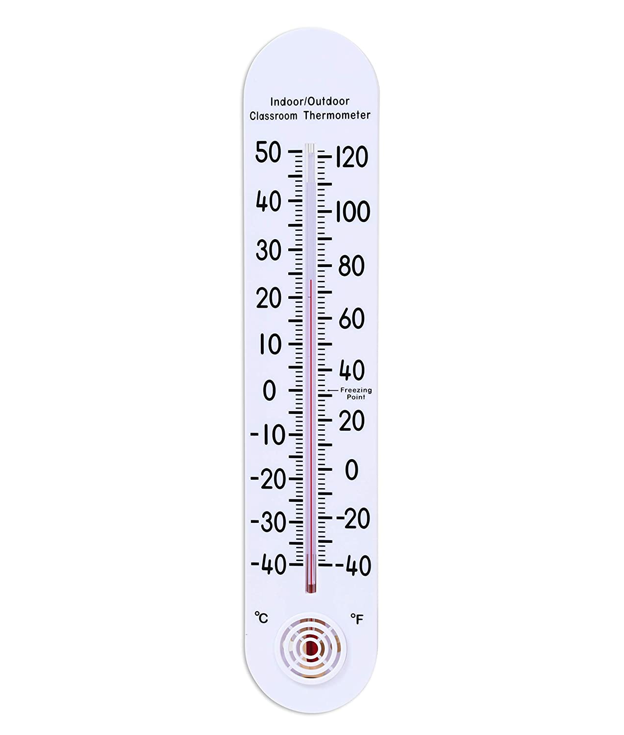 Learning Advantage Indoor/Outdoor Classroom Thermometer Large for School Use Learning Thermometer