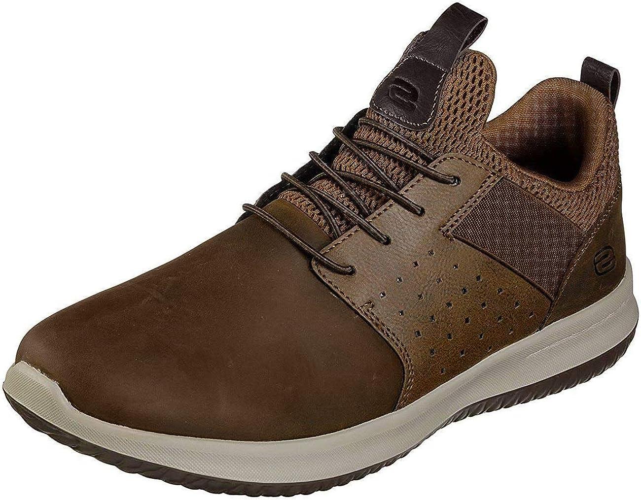 Skechers Herren Delson Axton Slip On Sneaker, Brauner CDB