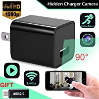 Hidden Spy Camera USB Wall Charger 1080p HD Wireless WiFi Mini Camera Home Security System Baby Pet Monitor Surveillance Nanny Cam Indoor Motion Detection Loop Record Night Vision Android iPhone