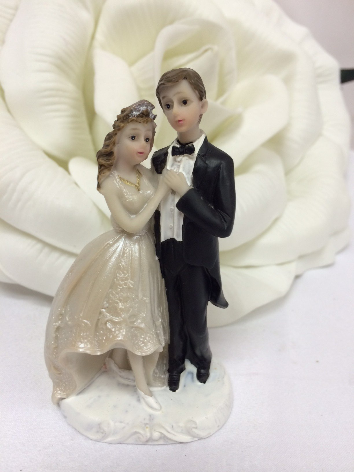 48 Wedding Bride and Groom Couple Favor Cake Topper Figurine