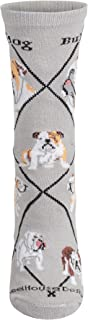 product image for Wheel House Designs Bulldog Womens Argyle Socks (Shoe size 6-8.5)