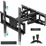 """Everstone TV Wall Mount for Most 32""""-65"""" TVs Heavy Duty Dual Arm Articulating Full Motion Tilt Swivel 14"""" Extension Bracket,LED,LCD,OLED&Plasma Flat Screen Curved TV,Up to VESA 400mm,Height Adjustable"""