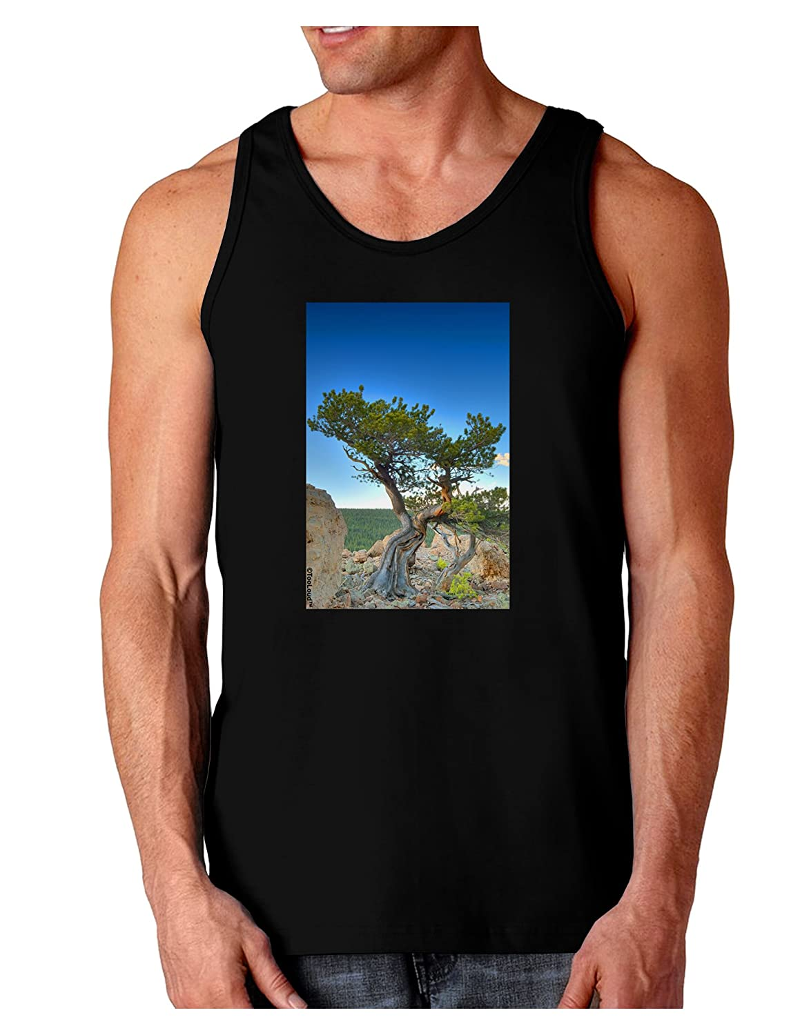 TooLoud Colorado Landscape Tree Dark Loose Tank Top