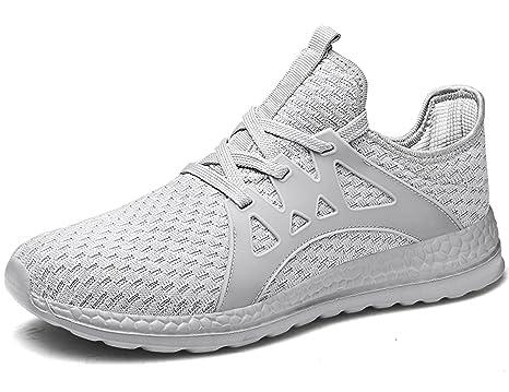 SINOES Hombres y Mujeres Deportes Zapatos Adultos Malla Transpirable Ligero Zapatos Deportivos Zapatos Casuales Zapatos para