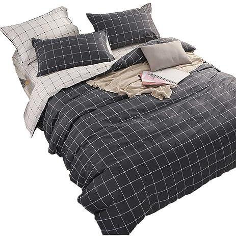 400 Thread Count 100% Cotton Sheet Set, Indigo Batik King Sheets 4 Piece Set
