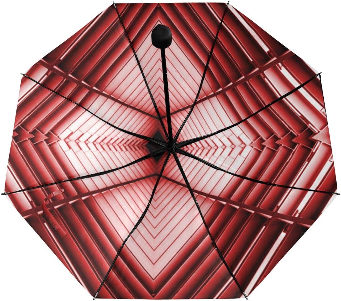 Compact Folding Umbrella Spaceship Architecture Underside Printing Compact Parasol Umbrella Boys Umbrella Compact With 95 Uv Protection For Women Men Lady Girl