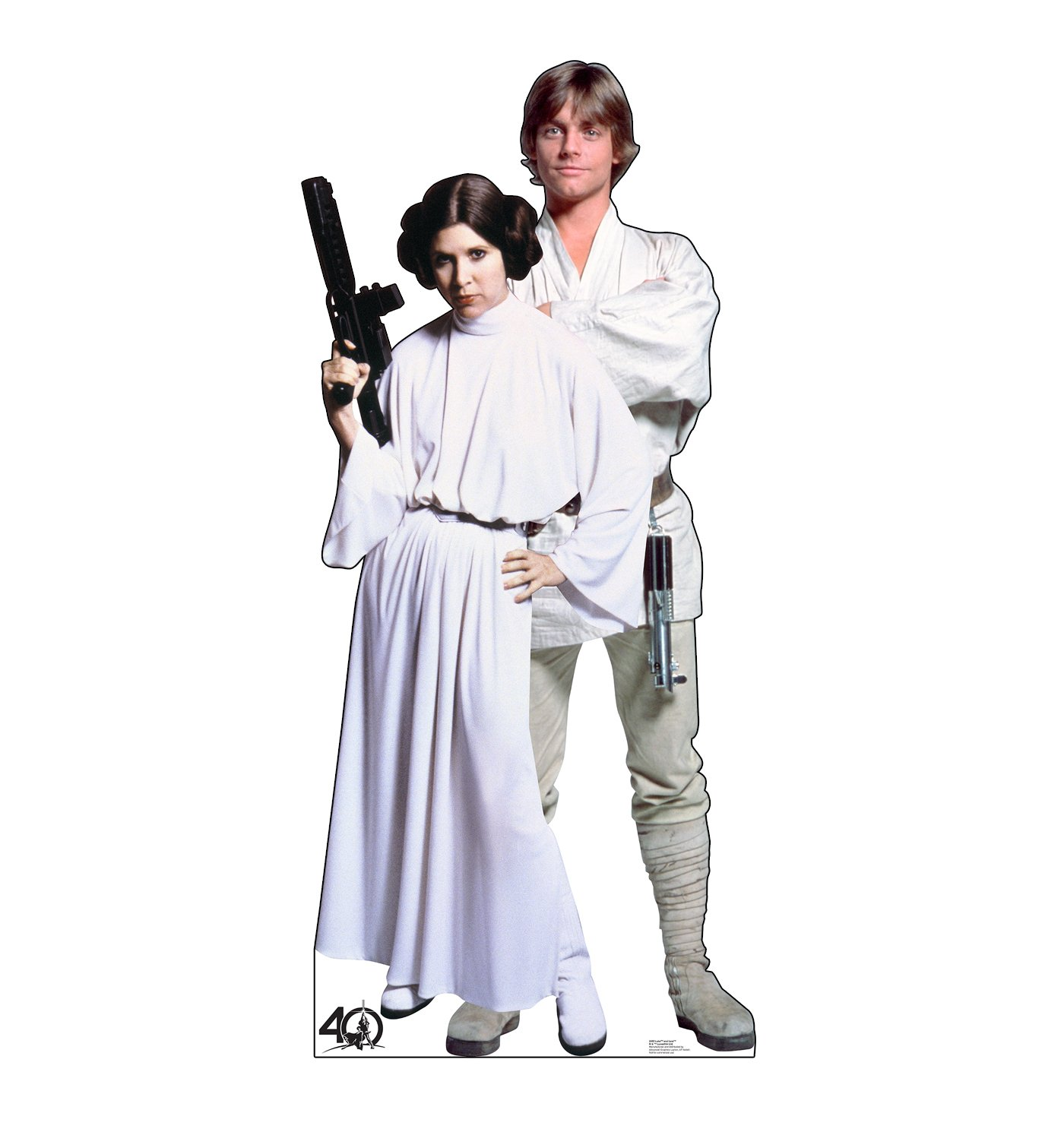 Advanced Graphics Luke & Leia Life Size Cardboard Cutout Standup - Star Wars 40th Anniversary