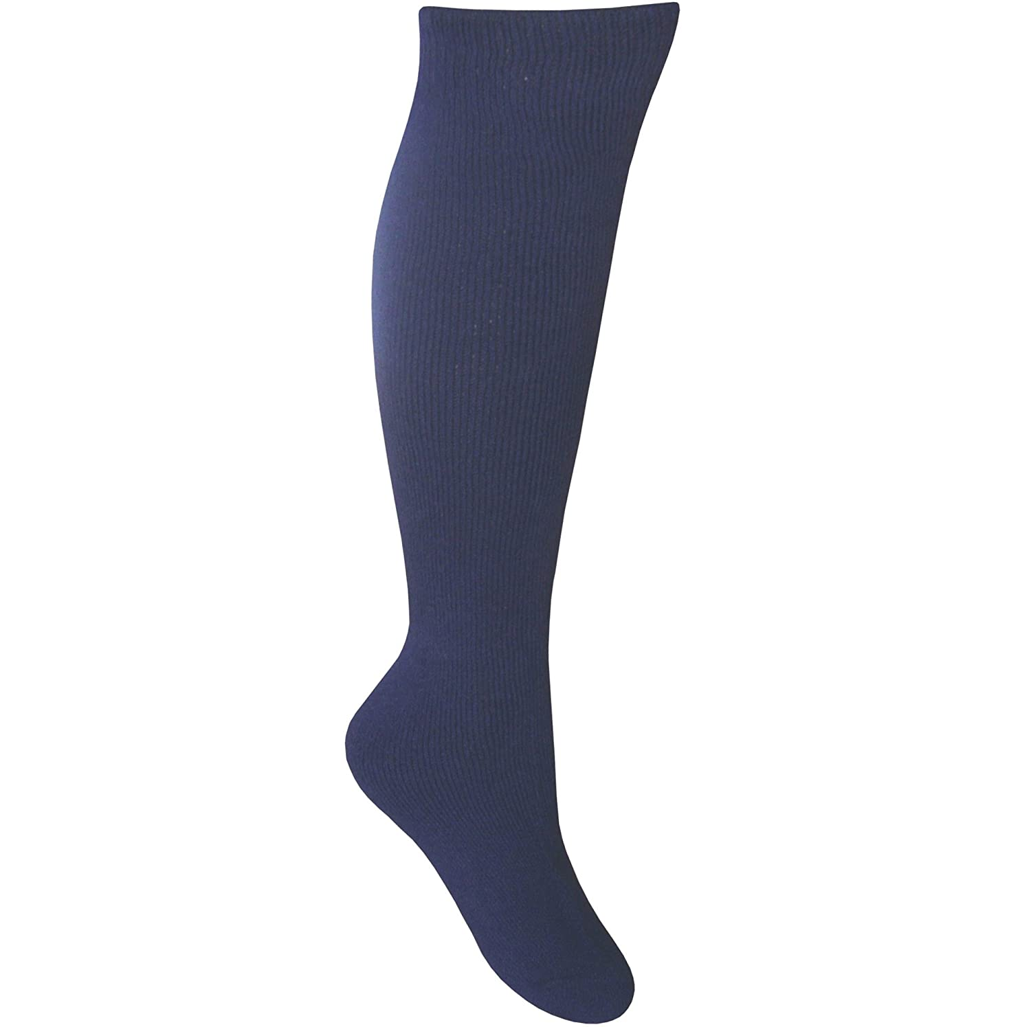 Men's Cushioned Calf Length Gentle Grip Long Wellington Boot Thermal Socks MensWellingtonBootSocksBLK