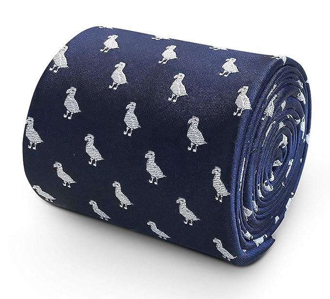 Frederick Thomas Corbata azul marino Men-S con diseño de pájaro ...