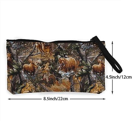 Amazon.com: Camo Hunting Deer Bear Moose Turca Duck Monedero ...