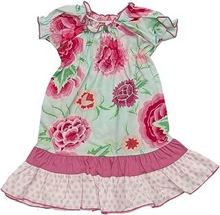product image for Cheeky Banana Sweet Baby/Toddler Girls Dahlia Peasant Dress Pink/Aqua