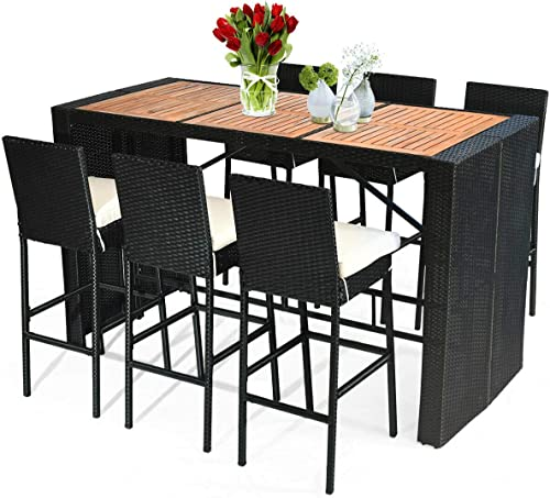 Tangkula 7 PCS Outdoor Dining Set