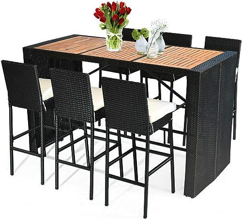 Tangkula 7 PCS Outdoor Dining Set