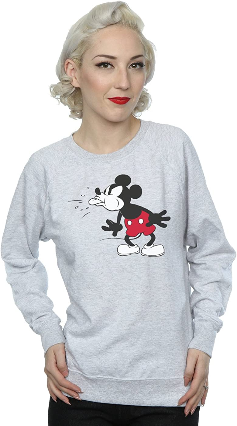 TALLA S. Disney mujer Mickey Mouse Tongue Camisa De Entrenamiento