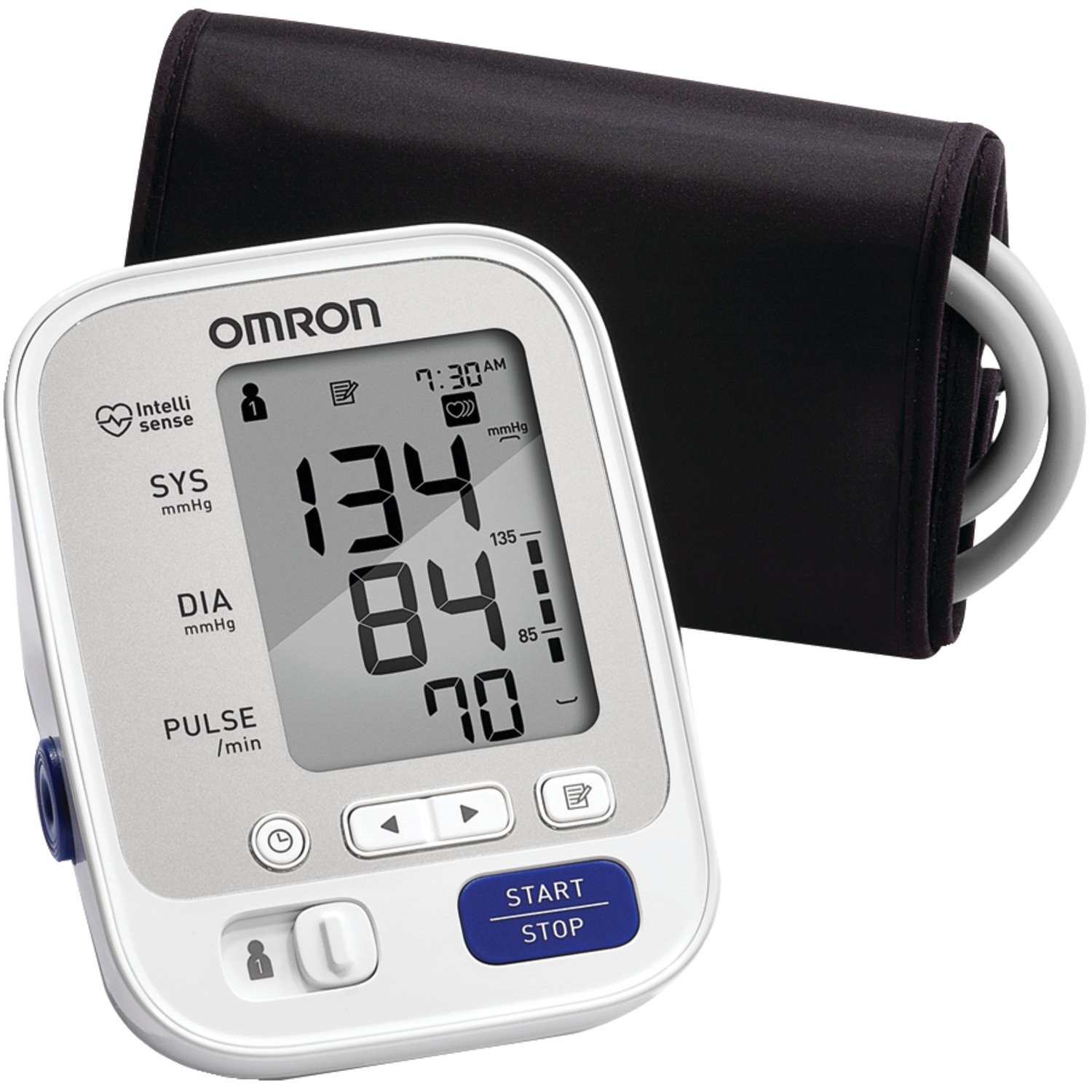 Omron 5 Series Upper Arm Blood Pressure Monitor; 2-User, 100-Reading Memory, Soft Wide-Range Cuff, #1 Dr. Recommended by Omron by Omron