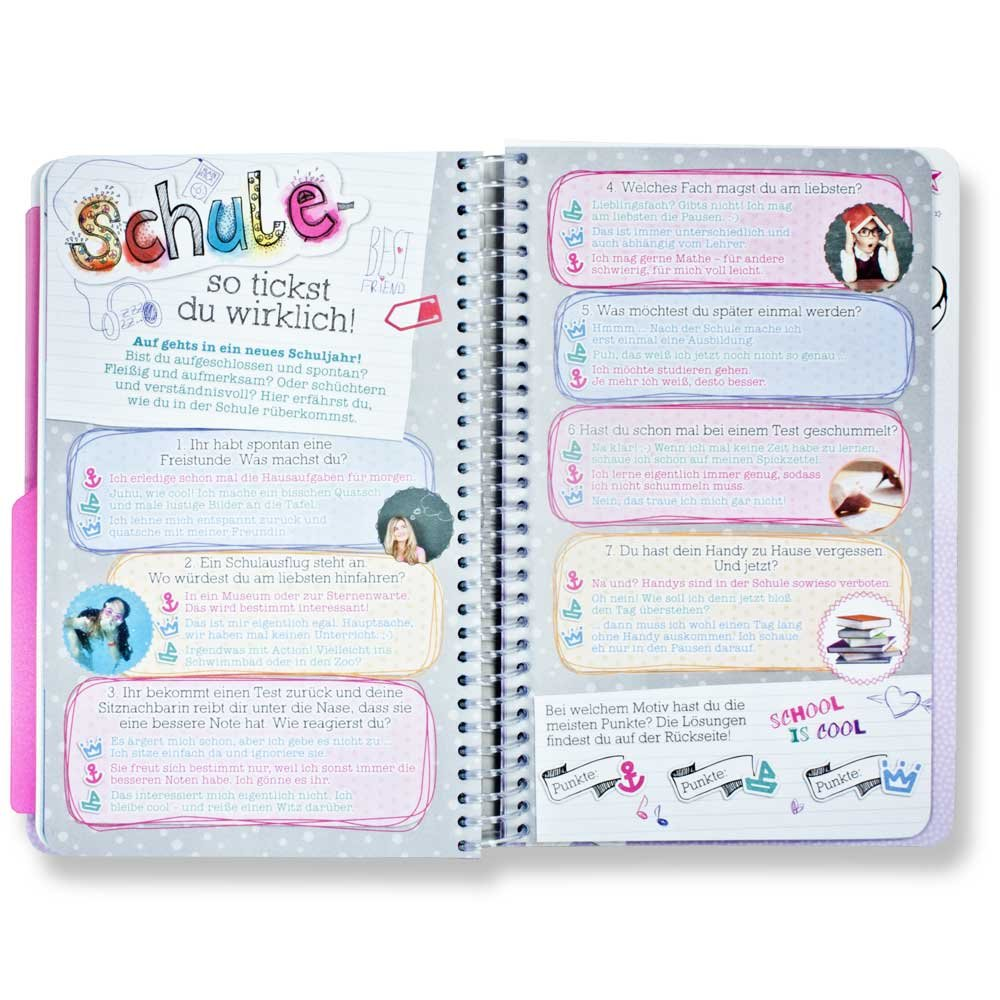 Top Model school homework book Diary 2016 2017 Blue: Amazon.co.uk ...