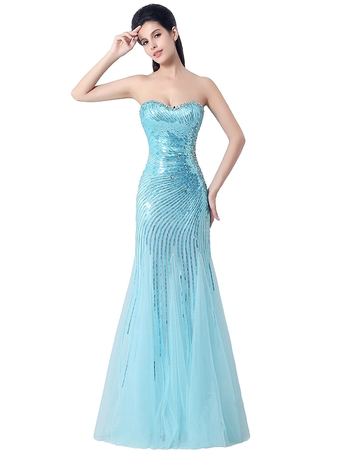 Favebridal Women's Long Sweetheart Formal Evening Prom Dress XZ005