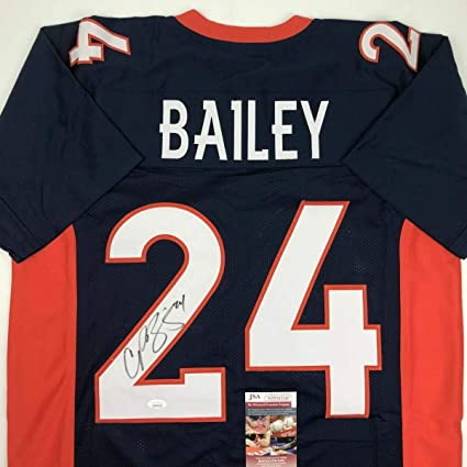 on sale fa6ca cdfe3 Champ Bailey Signed Jersey - Blue COA - JSA Certified ...