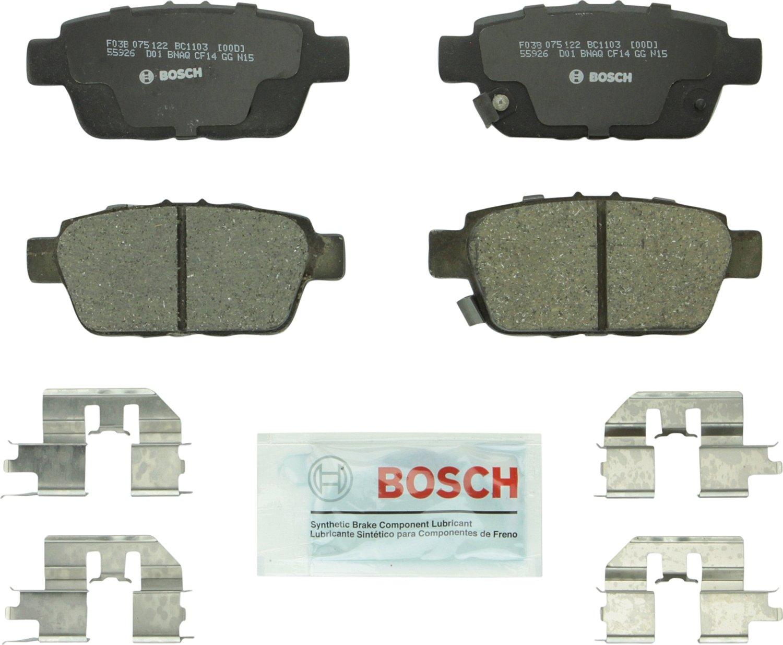 Rear Bosch BC1103 QuietCast Premium Ceramic Disc Brake Pad Set For Acura TL; Honda Ridgeline
