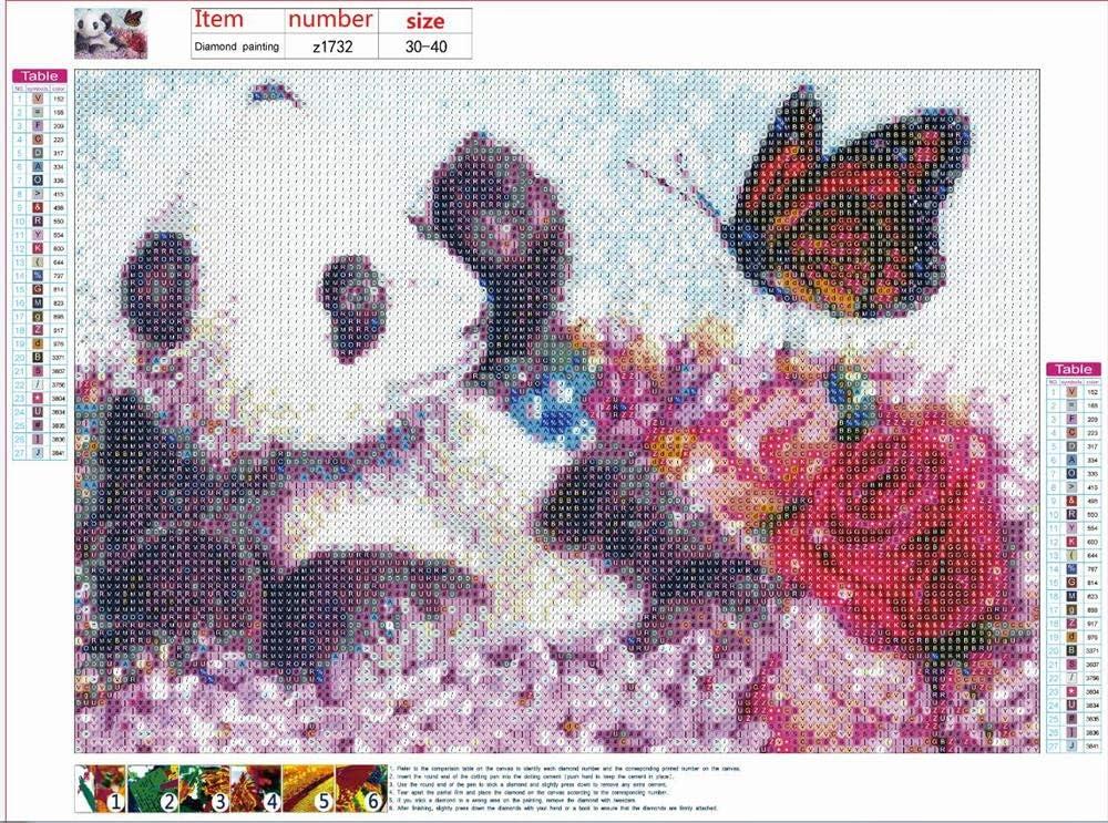Strass /à Broder au Point de Croix Craft Kit de Peinture Home Decor Art Cadeau30*40cm Hippopotame Generic1 DIY 5d Diamant Peinture