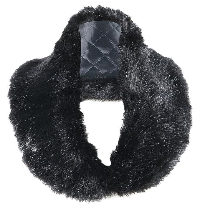 EOZY Estola Otoño y Invierno Escote Pelos De Cuello Chal Bufanda Falsa Para Abrigo Chaqueta Mujer