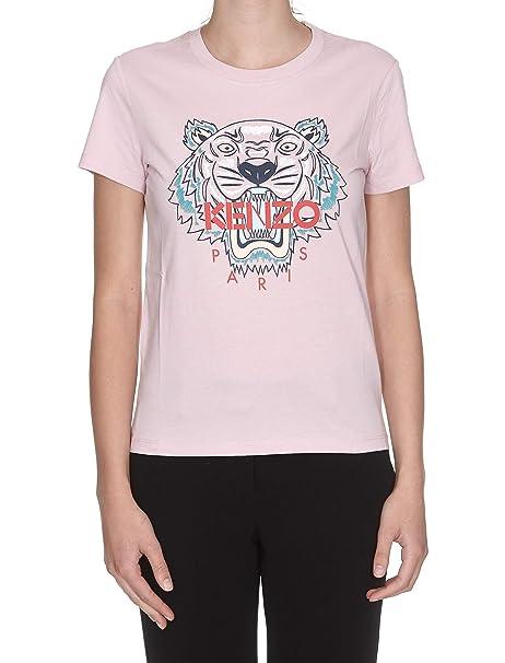 Kenzo Mujer F862ts7214yb33 Rosa Algodon T-Shirt: Amazon.es: Ropa y accesorios
