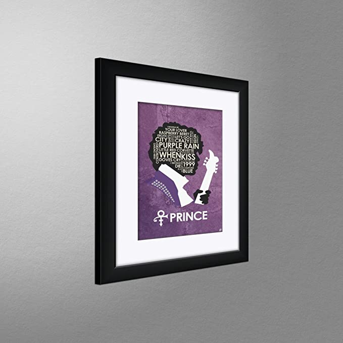 Amazon.com: Northwest Art Mall Prince Lyrics Framed & Matted Art Print by Stephen Poon. Print Size: 9