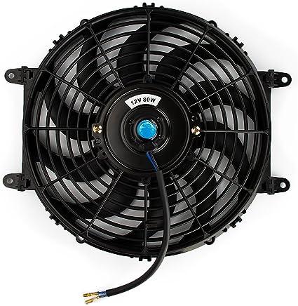 Jtron - Ventilador de refrigeración eléctrico universal Slim Fan ...