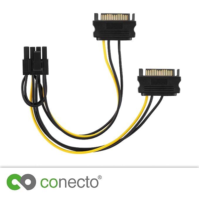 conecto CC20115 Cable de alimentación de Tarjeta gráfica PCI-E ...