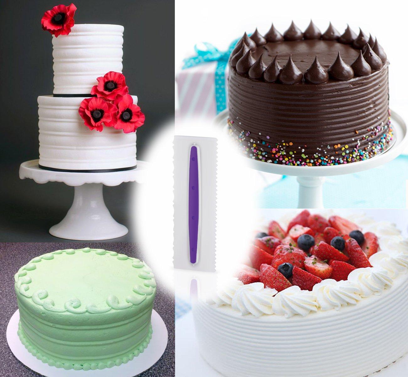 Esmalte ilauke Cabello textura de peines para tarta Decoración ...