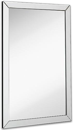 Hamilton Hills Large Flat Framed Wall Mirror