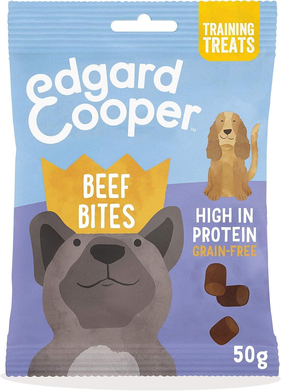 Edgard & Cooper chuches para perros sin cereales con Ternera. Premios naturales ricos en proteínas hasta 85% de carne cocinada al horno con ...