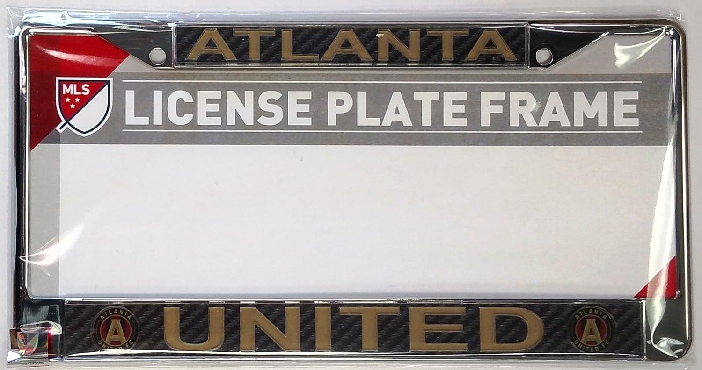 Amazon.com : Atlanta United Carbon Fiber LASER FRAME Chrome License ...