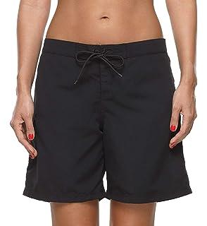 c2e091c5ba Anwell Board Short for Women High Waisted Quick Dry Drawstring Pocket Swim  Short